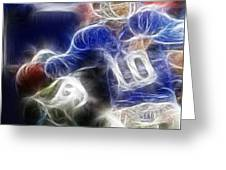 Eli Manning Ny Giants Greeting Card by Paul Ward