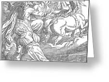 Elijahs Ascent To Heaven Greeting Card