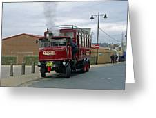 Elizabeth - Steam Bus At Whitby Greeting Card