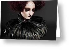 Elizabethan Girl Greeting Card