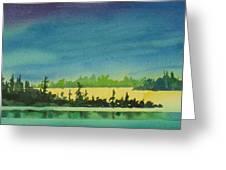 Elk Island Sundown 2 Greeting Card