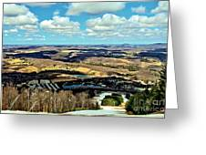 Elk Mountain Ski Resort Greeting Card
