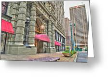 Ellicott Square Building And Hsbc Greeting Card