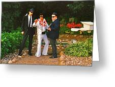 Elvis And The Blues Greeting Card