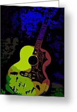 Elvis Gibson J200 Guitar Greeting Card