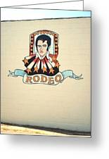 Elvis On The Wall Greeting Card