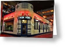 Elwood Bar And Grill Detroit Michigan Greeting Card