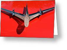 Emblem On Red 2 Greeting Card