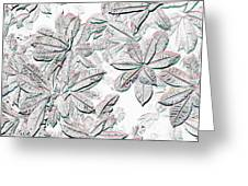 Embossed Crotons Greeting Card