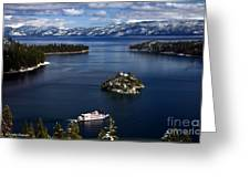 Emerald Bay. Greeting Card