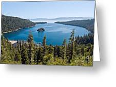Emerald Bay Morning Greeting Card
