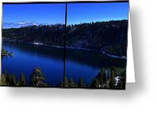 Emerald Bay Panorama Lake Tahoe Greeting Card