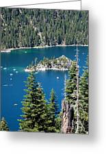 Emerald Bay Vertical Greeting Card