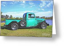 Emerald Green 1936 Ford Pickup Greeting Card