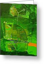Emerald Green Tobor Greeting Card
