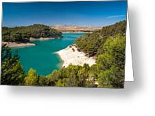 Emerald Lake. El Chorro. Spain Greeting Card