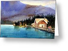 Emerald Lake Lodge B.c Greeting Card