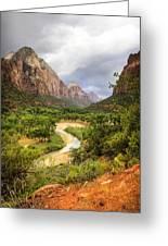 Emerald Pools Trail 3 Greeting Card
