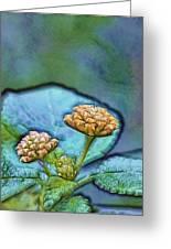 Emerald Stamped Floret Greeting Card