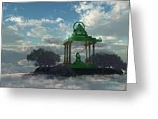 Emerald Throne Greeting Card