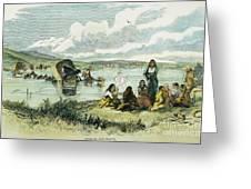Emigrants In Nebraska, 1859 Greeting Card by Granger