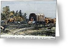 Emigrants To Ohio, 1805 Greeting Card