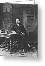 Emile Zola 1840-1902 Novelist Greeting Card