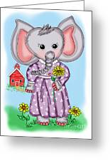 Emily Elephant Greeting Card