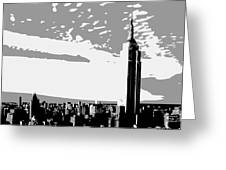 Empire State Building Bw3 Greeting Card