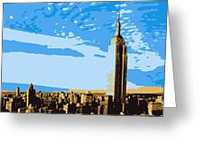 Empire State Building Color 6 Greeting Card