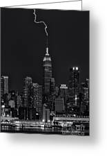 Empire State Building Lightning Strike II Greeting Card