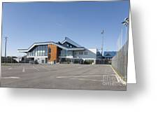 Empty Airport Parking Lot Greeting Card by Jaak Nilson