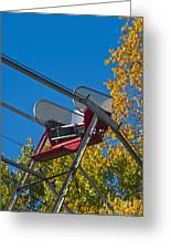 Empty Chair On Ferris Wheel Greeting Card by Thom Gourley/Flatbread Images, LLC