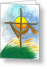 Empty Cross Greeting Card