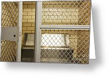 Empty Jail Holding Cell Greeting Card