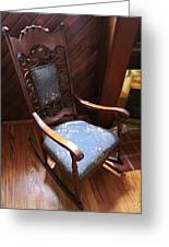 Empty Rocking Chair Greeting Card