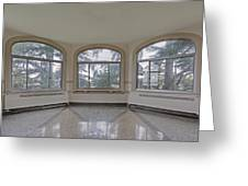 Empty Room In Turret With Windows Greeting Card