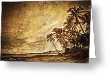 Empty Tropical Beach 3 Greeting Card