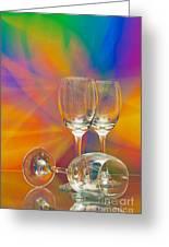 Empty Wine Glass Greeting Card by Anuwat Ratsamerat