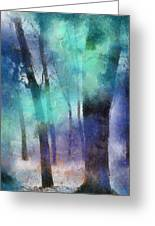Enchanted Forest. Painting With Light Greeting Card