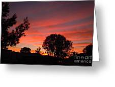 End Of A Perfect Day Greeting Card