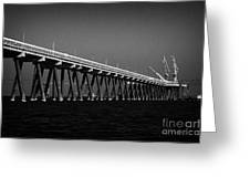 End Of The Jetty At Cloghan Point Oil Terminal In Belfast Lough Northern Ireland Uk Greeting Card