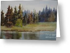 End Of The Lagoon Greeting Card
