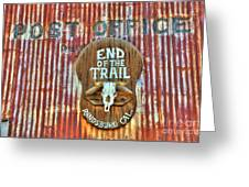 End Of The Trail Greeting Card