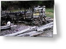 End Of The Trail Oregon Conestoga Wagon  Greeting Card