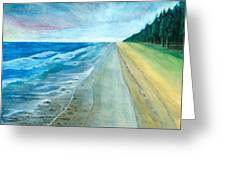 Endless Beach Greeting Card