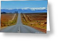 Endless Country  Road Greeting Card
