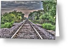 Endless Tracks Greeting Card