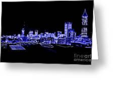 Energetic Atlanta Skyline - Digital Art Greeting Card