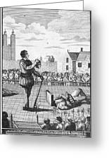 England: Beheading, 1554 Greeting Card